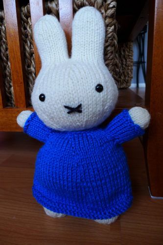 Miffy the knitted doll