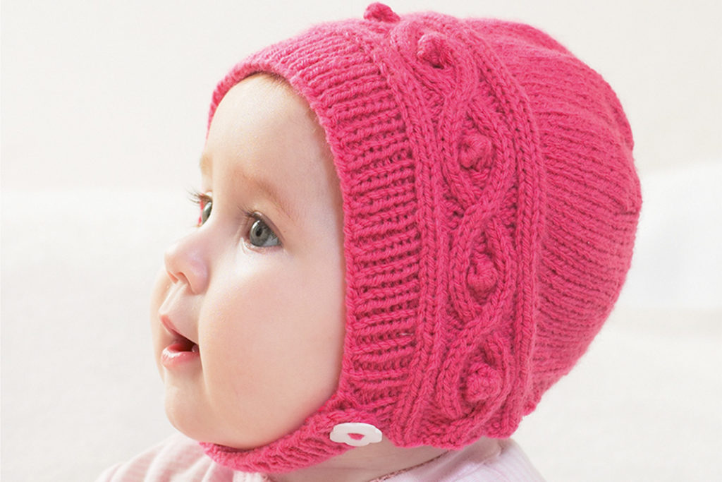 Knitted Cable Bonnet