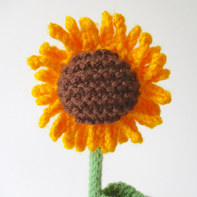 Sunflower knitting pattern