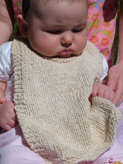 April Cromwell's knit bib