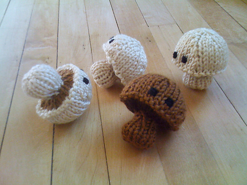Knitted Mushrooms designed by Abby K